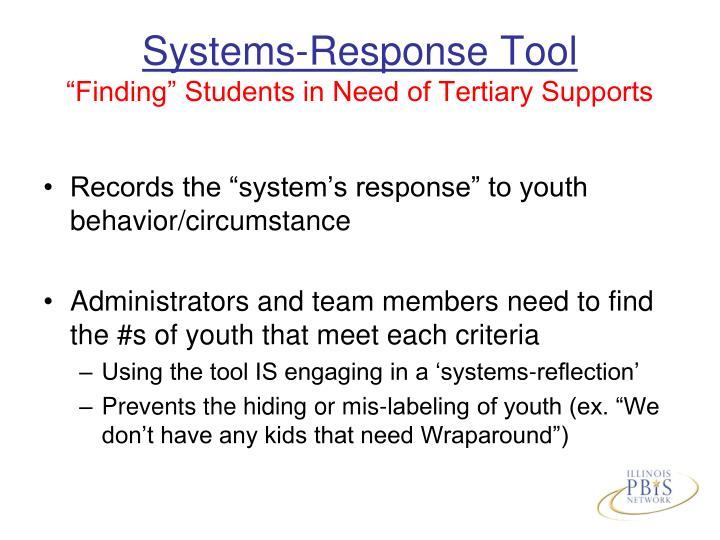Systems-Response Tool