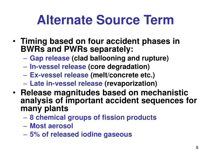 Alternate Source Term