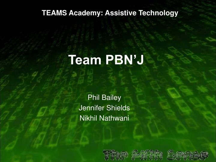 team pbn j