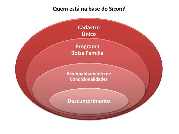 Quem está na base do Sicon?