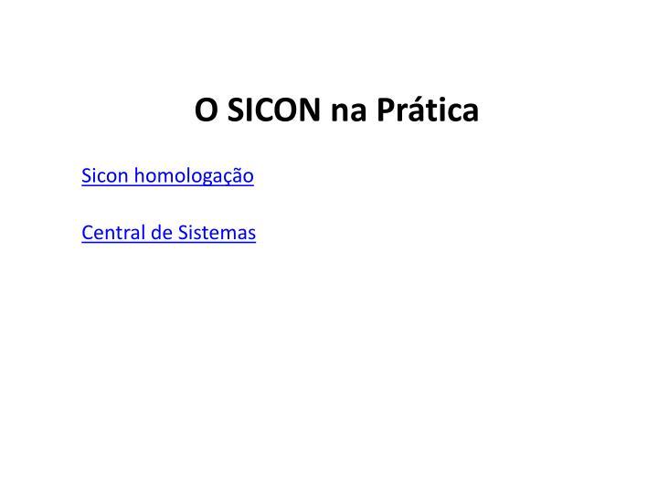 O SICON na Prática