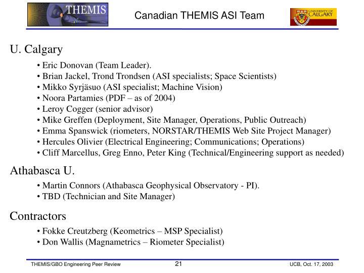 Canadian THEMIS ASI Team