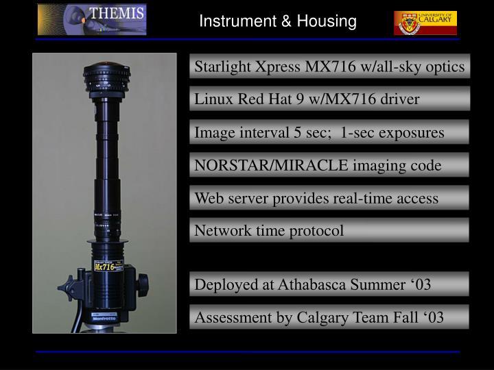 Instrument & Housing
