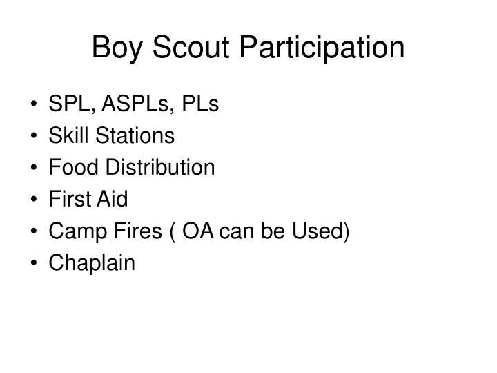 Boy Scout Participation