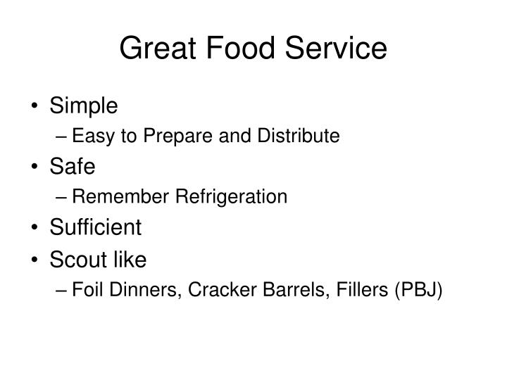 Great Food Service