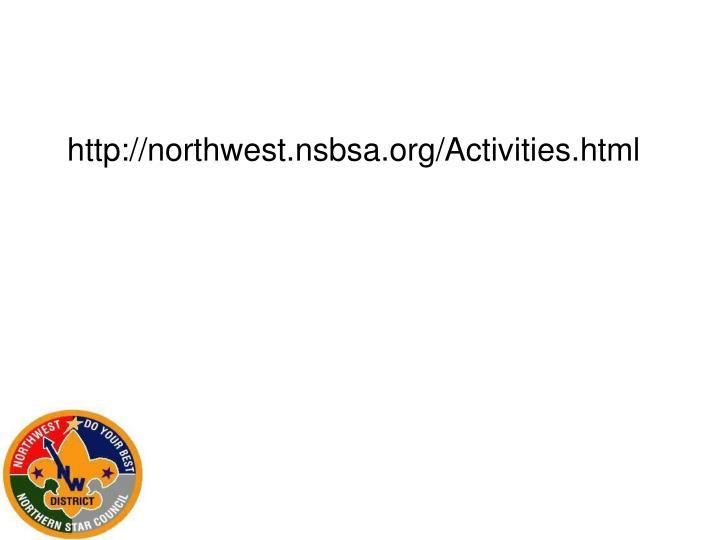 http://northwest.nsbsa.org/Activities.html