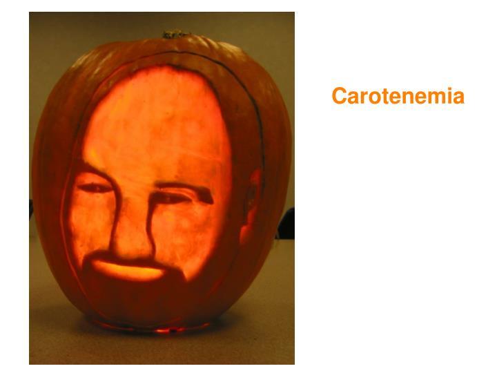 Carotenemia