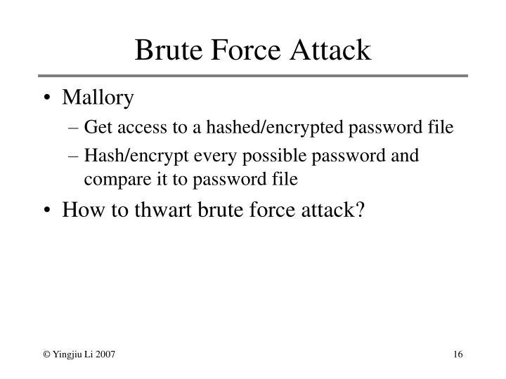 Brute Force Attack
