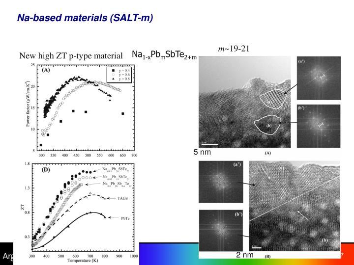 Na-based materials (SALT-m)