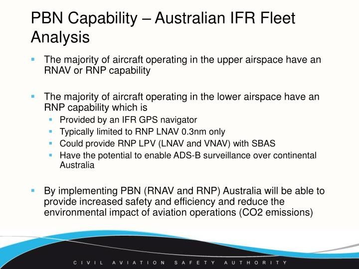 PBN Capability – Australian IFR Fleet Analysis