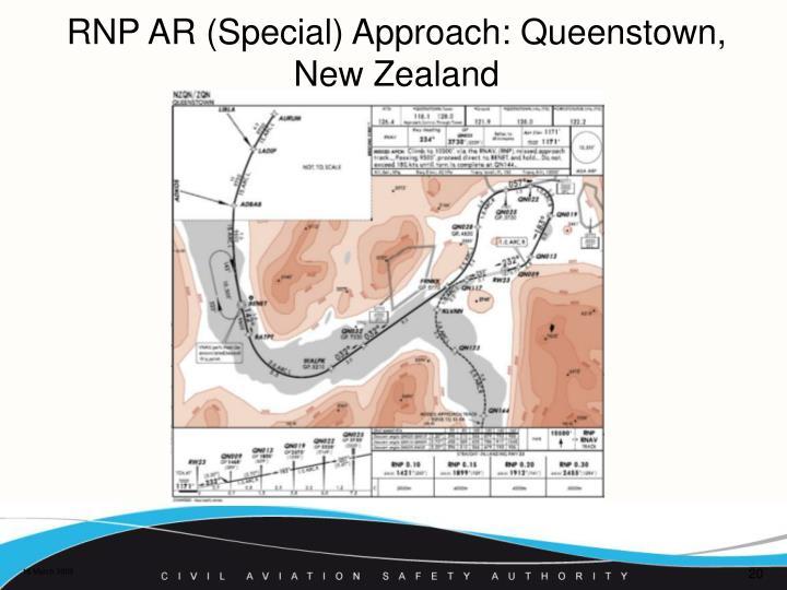 RNP AR (Special) Approach: Queenstown, New Zealand