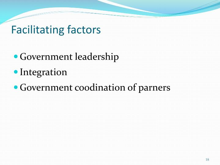 Facilitating factors