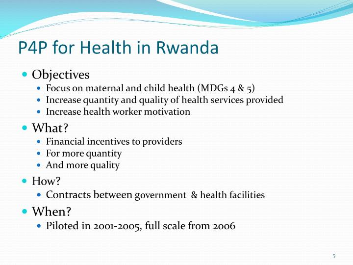 P4P for Health in Rwanda