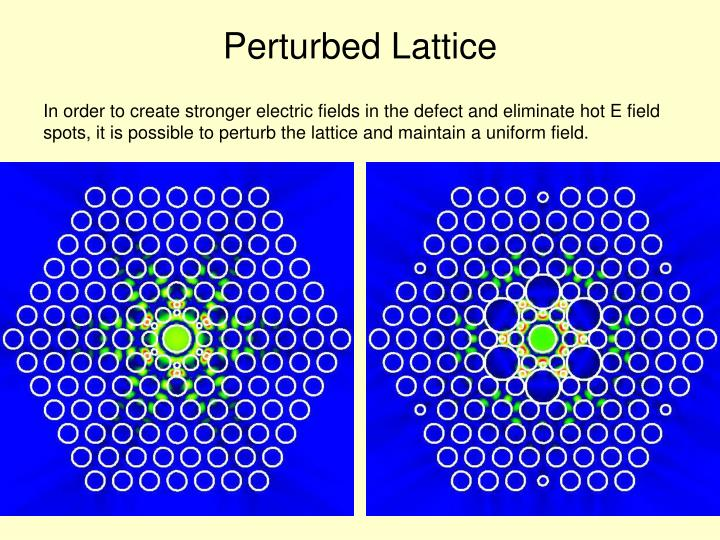 Perturbed Lattice