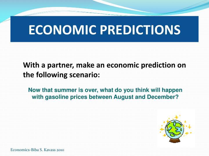ECONOMIC PREDICTIONS