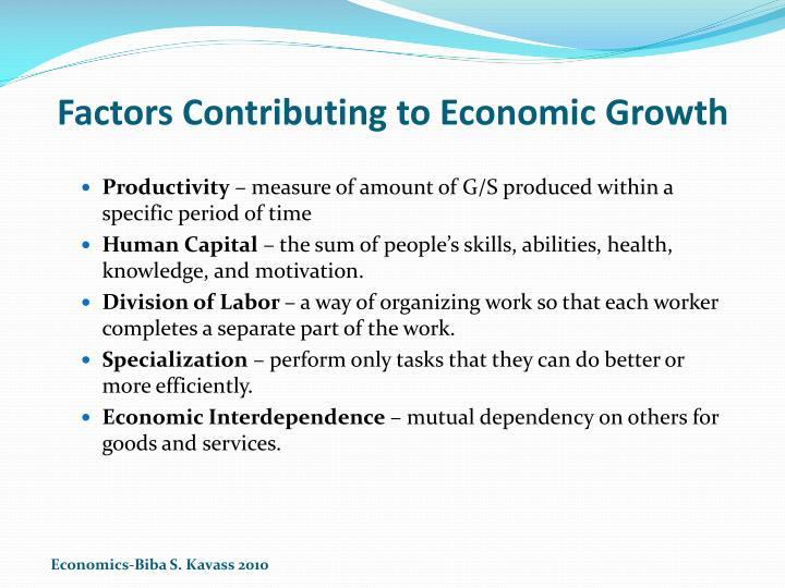 Factors Contributing to Economic Growth