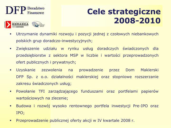 Cele strategiczne 2008-2010
