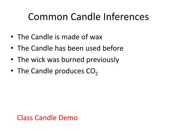 Common Candle Inferences
