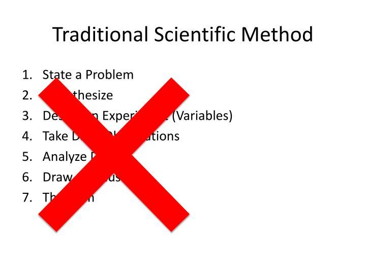 Traditional Scientific Method
