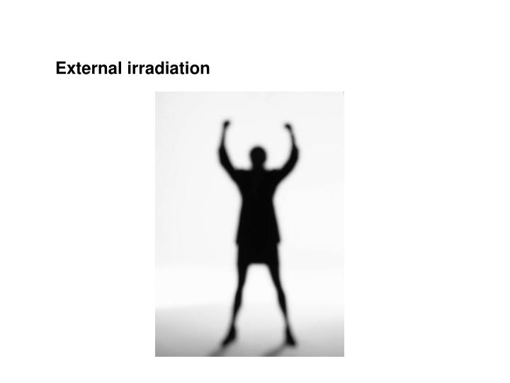 External irradiation