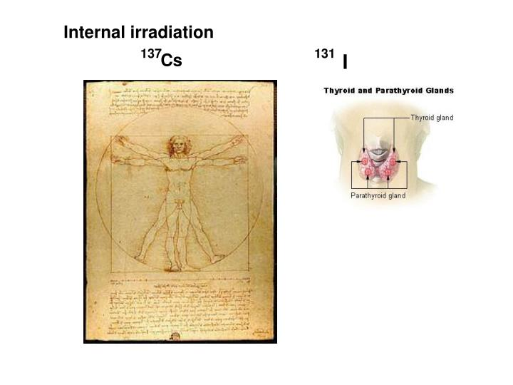 Internal irradiation