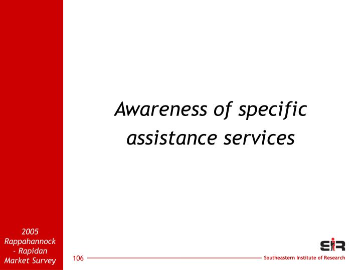 Awareness of specific