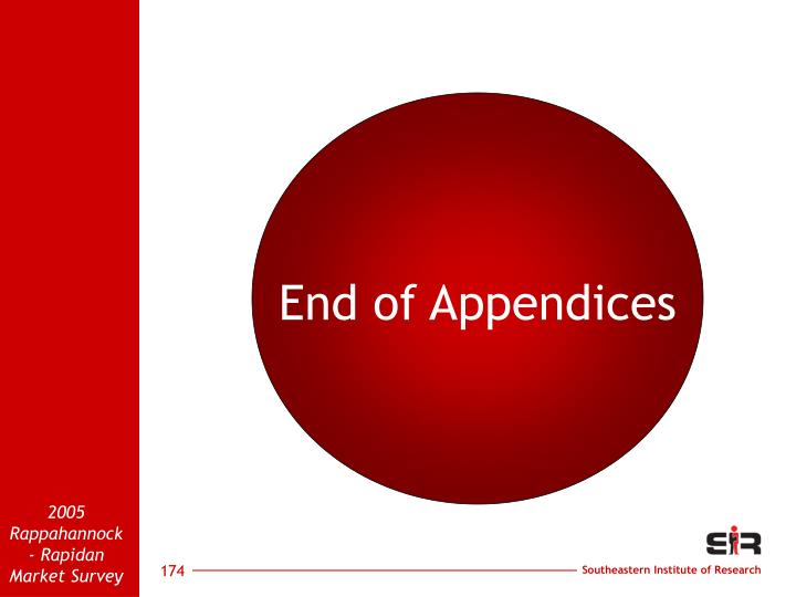 End of Appendices
