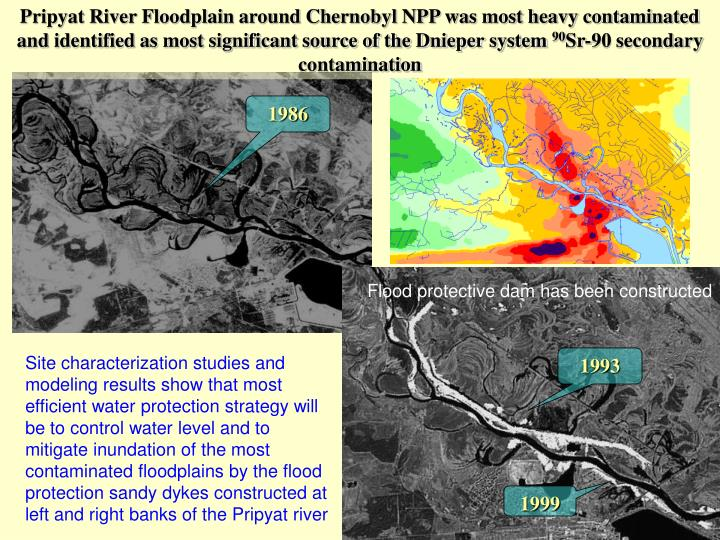 Pripyat River Floodplain around Chernobyl NPP was most heavy contaminated and identified as most significant source of the Dnieper system