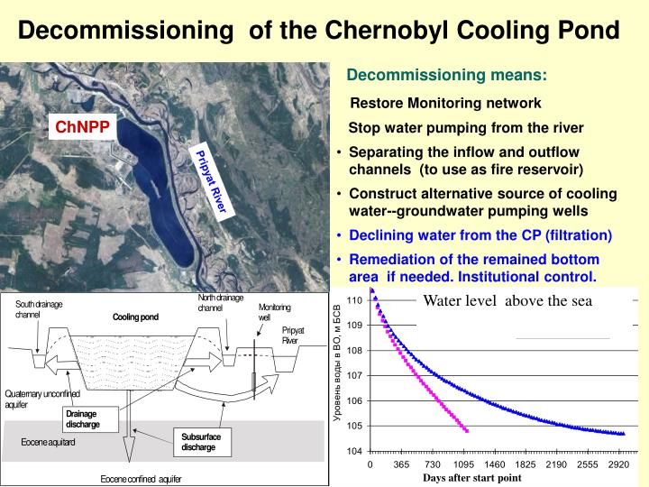 Decommissioning  of the Chernobyl Cooling Pond