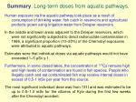summary long term doses from aquatic pathways