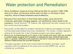 water protection and remediation