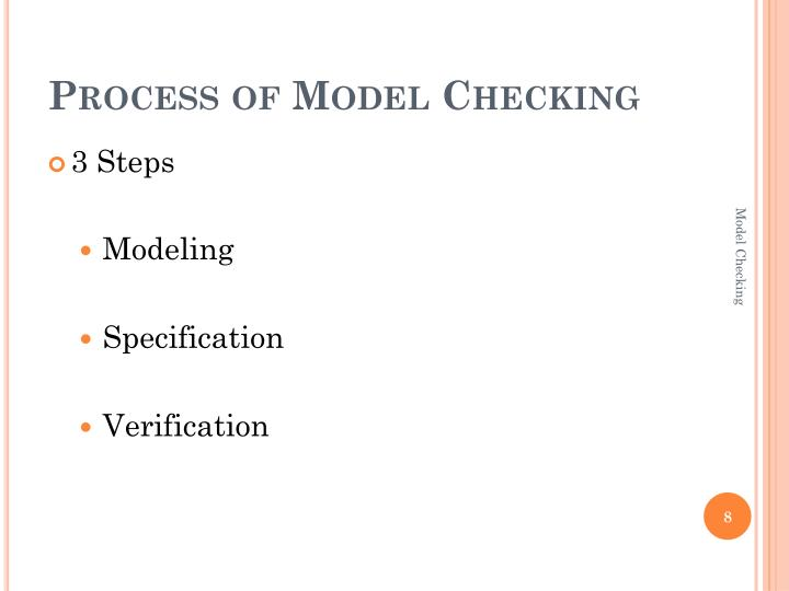 Process of Model Checking
