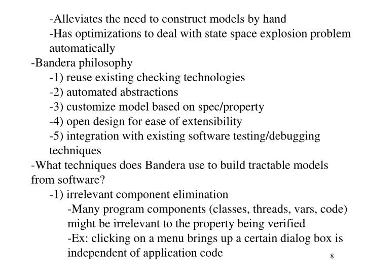 Alleviates the need to construct models by hand