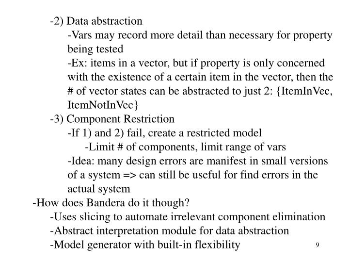 2) Data abstraction