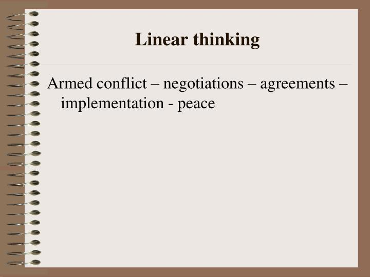 Linear thinking