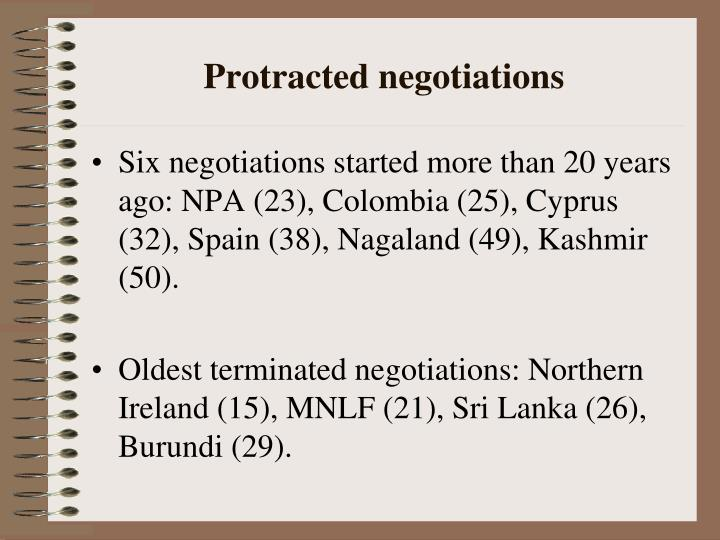 Protracted negotiations