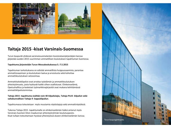 Taitaja 2015 -kisat Varsinais-Suomessa
