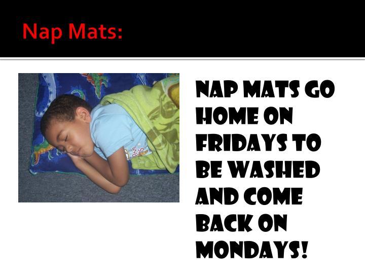 Nap Mats: