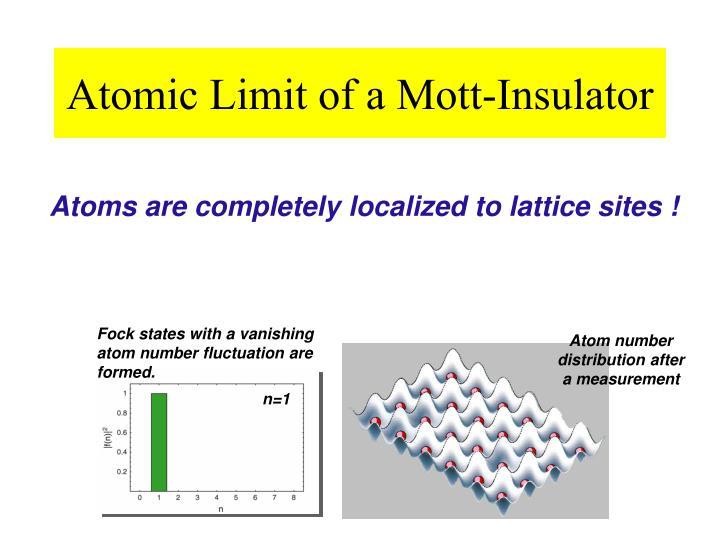 Atom number distribution after