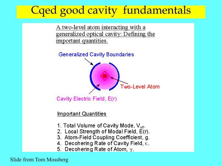 Cqed good cavity  fundamentals
