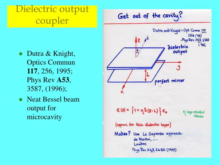 Dielectric output coupler