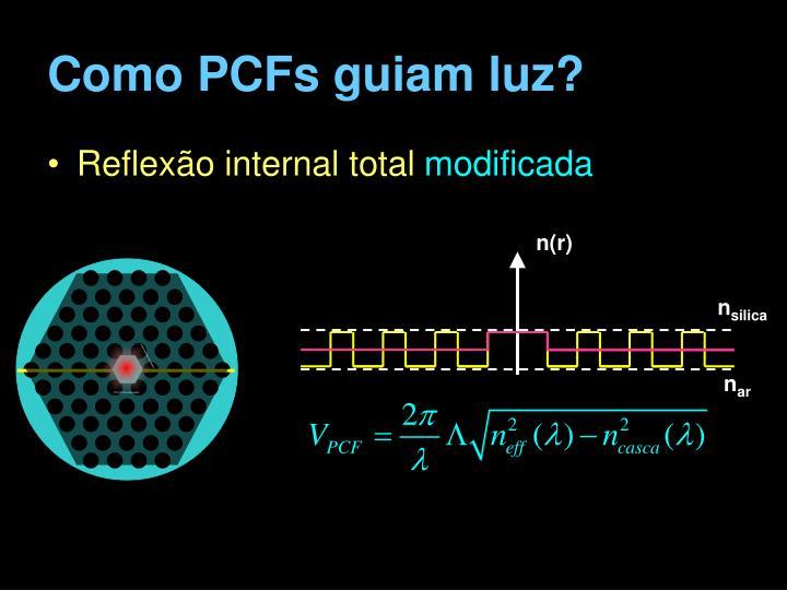 Como PCFs guiam luz?