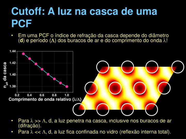 Cutoff: A luz na casca de uma PCF