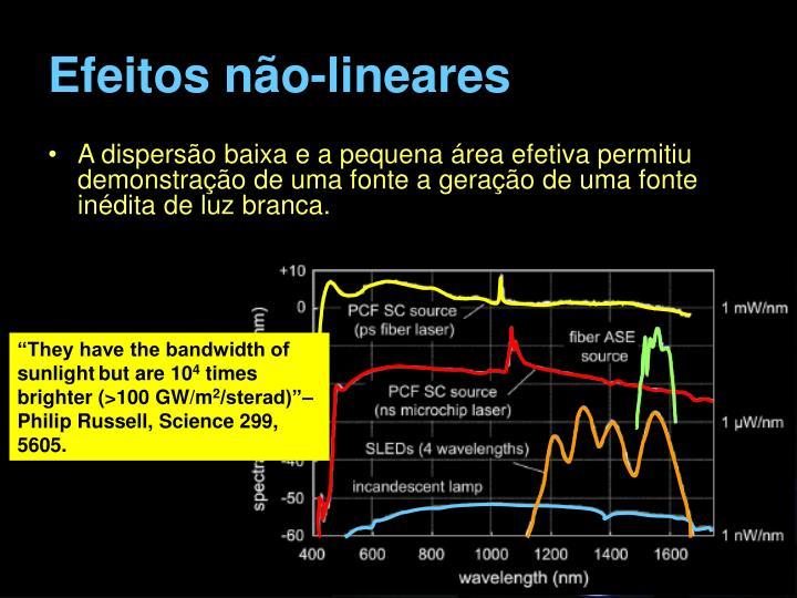 Efeitos não-lineares