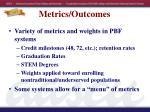 metrics outcomes