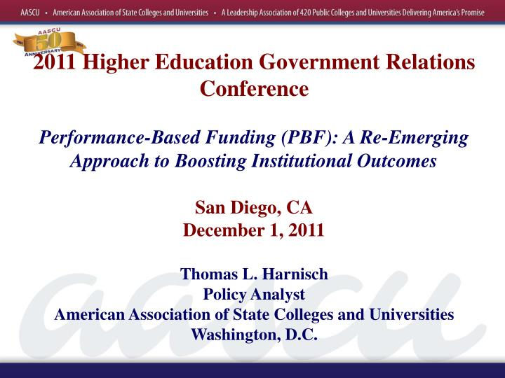 2011 Higher Education Government Relations Conference