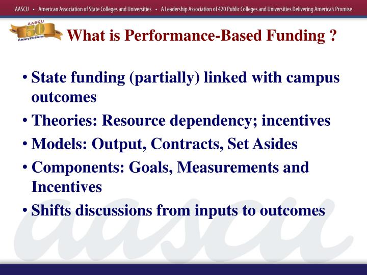 What is performance based funding