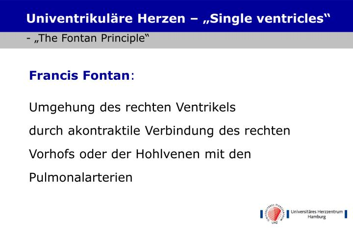 "Univentrikuläre Herzen – ""Single ventricles"""