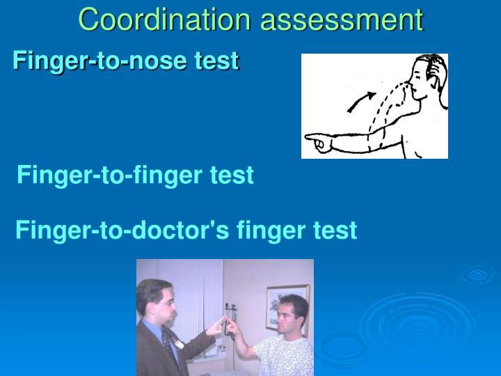 Coordination assessment