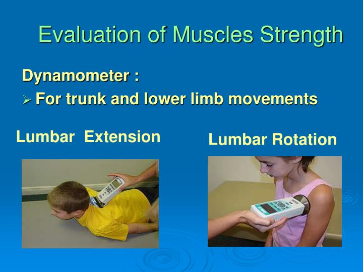 Evaluation of Muscles Strength